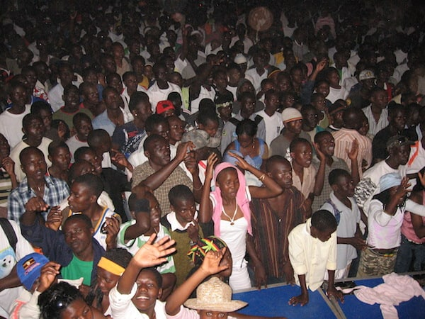Fans at a music show