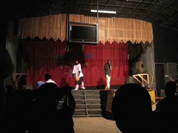 Karaoke performance