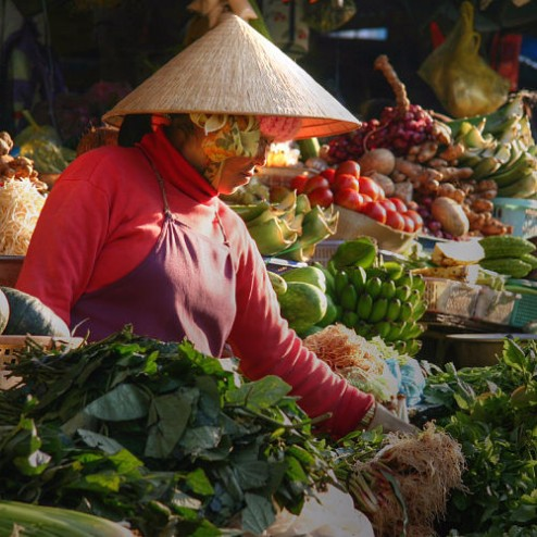 Vietnam Market (Photo by Taylor Miles, flickr, CC BY-NC-SA 2.0)
