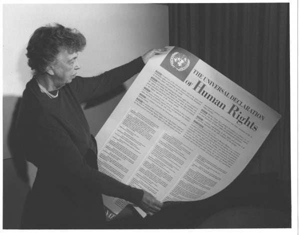 Eleanor Roosevelt and United Nations Universal Declaration of Human Rights, 1949