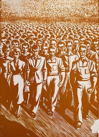 White Collar, c. 1940 - Linocuts by Giacomo G. Patri (Photoy by Thomas Shahan, flickr, (CC BY 2.0)