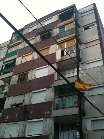 Building on the upper side of Ciutat Meridiana