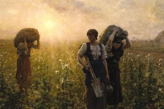 Fin du travail. Jules Breton, 1886-1887.