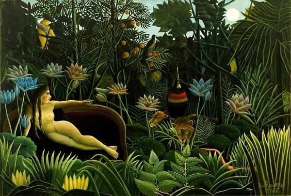 """""""Henri Rousseau - Il sogno"""" by Henri Rousseau - Unknown. Licensed under Public Domain via Commons."""